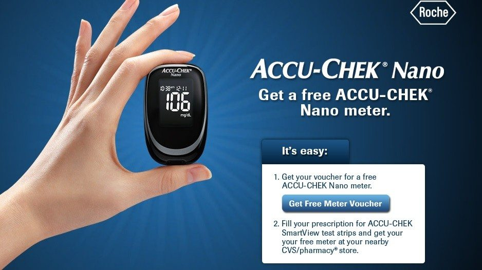 free  accu-chek nano blood sugar meter at cvs