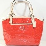 PEYTON EMBOSSED PATENT POCKET TOTE