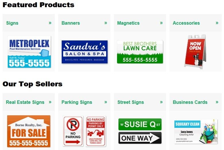 build a sign line of products