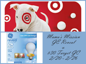 Enter to win the $30 Target GC Giveaway. Ends 2/26
