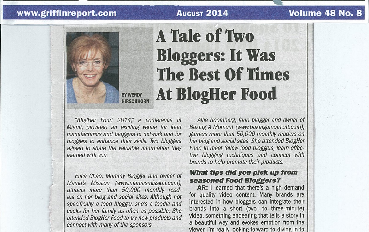 Griffin Report - A Tale of Two Bloggers at BlogHer Food