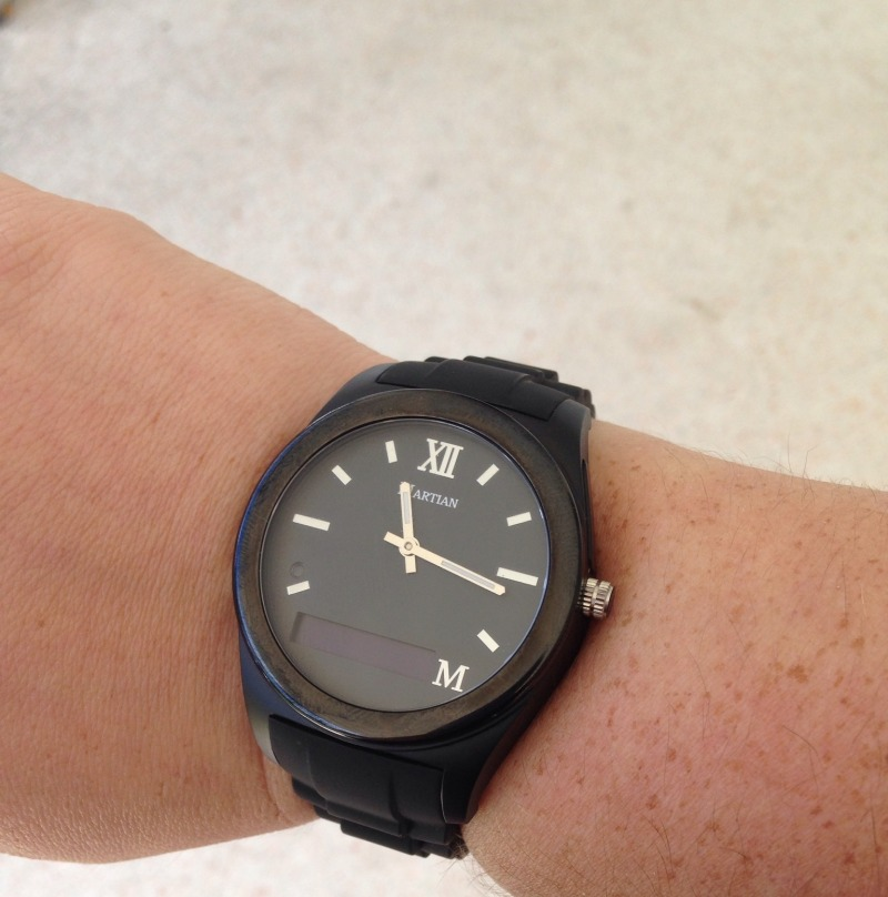 martian notifier watch black
