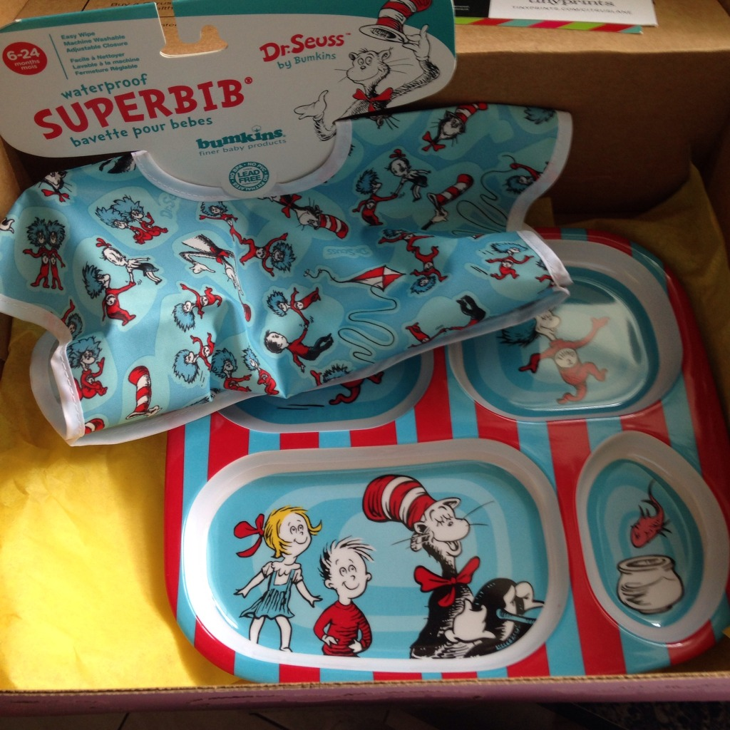 Cat in the Hat Bib and Plate from Bumkin
