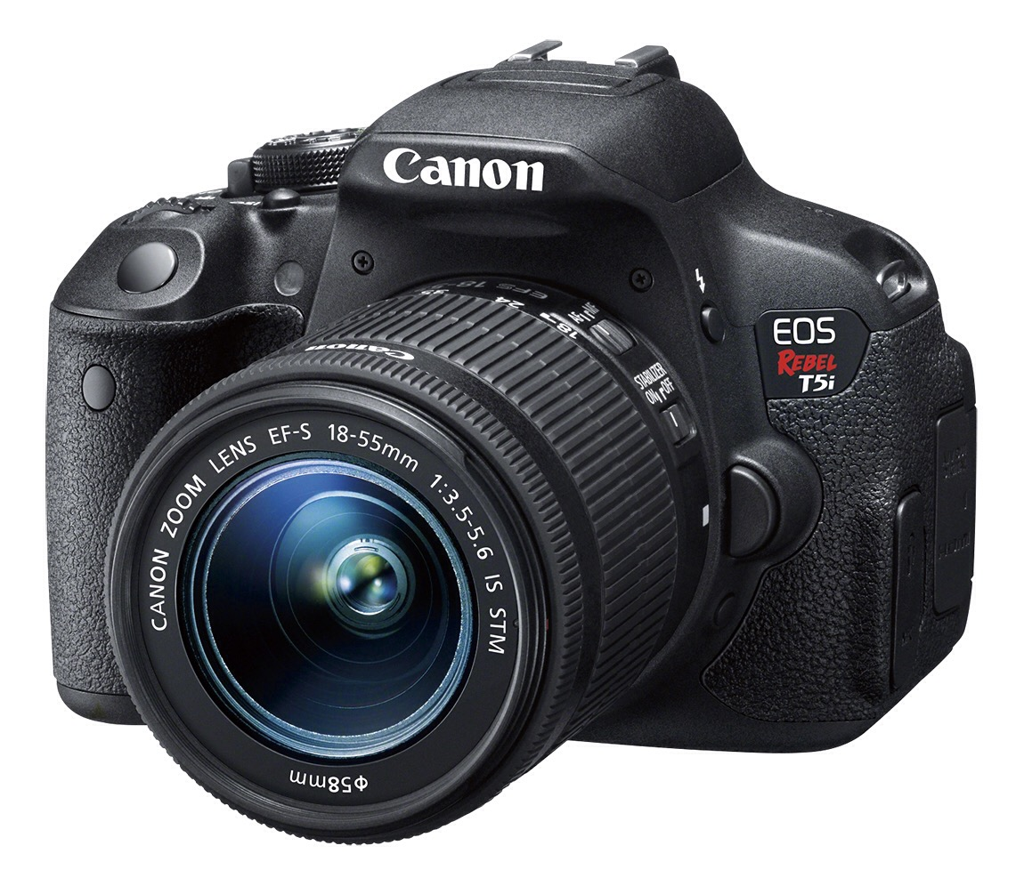 Canon EOS Rebel T5i Front With Lens View
