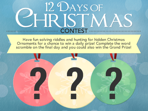 12 days of christmas contest personalization mall