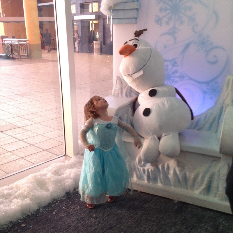 Em with Olaf Frozen
