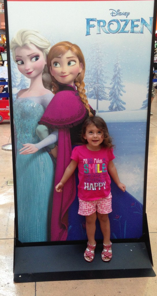 Frozen Ice Palace Dolphin Mall Anna and Elsa