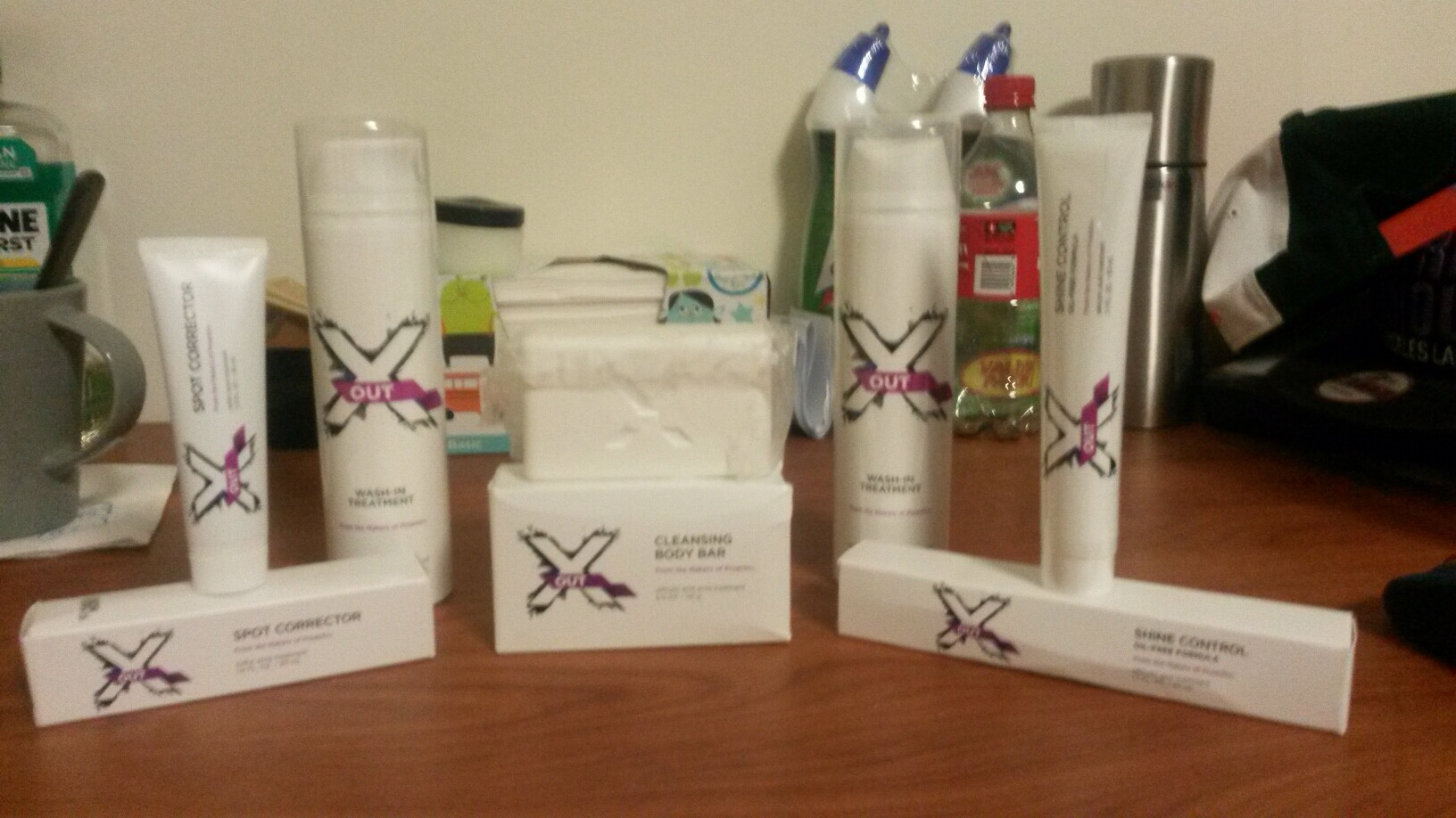 x out acne treatment line