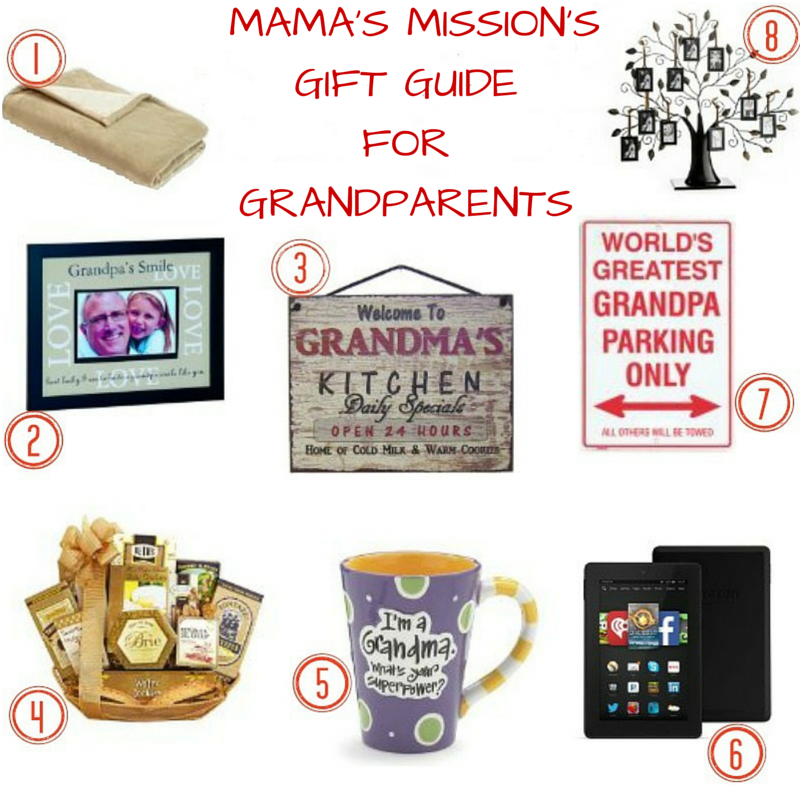 Mama's Mission's Gift Guide For Grandparents