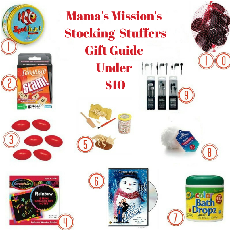 Mama's Mission's Stocking Stuffers Gift Guide Under $10