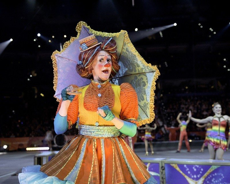 Scarlett Sullivan Umbrella - Clown Ringling Bros