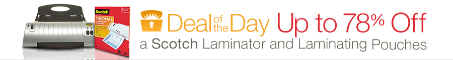 deal of the day laminator