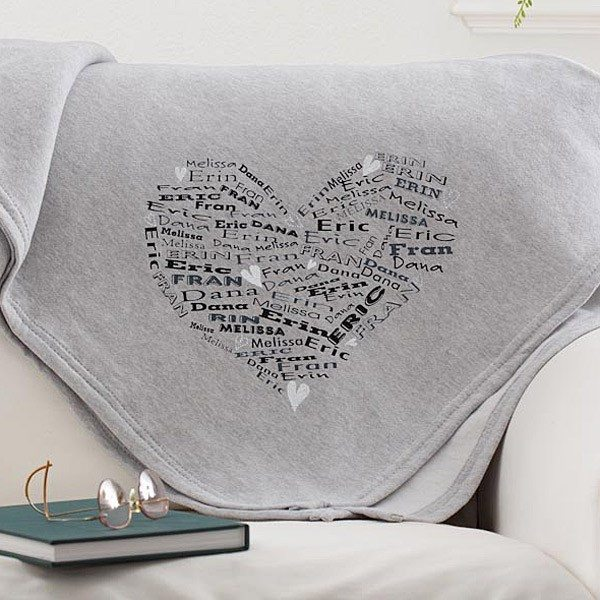 personalization mall sweater blanket gift for mom