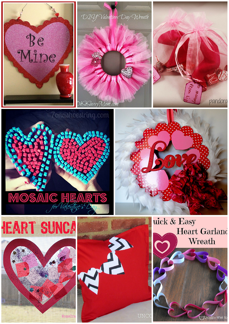 valentine's day crafts handmade wreaths decorations hearts love
