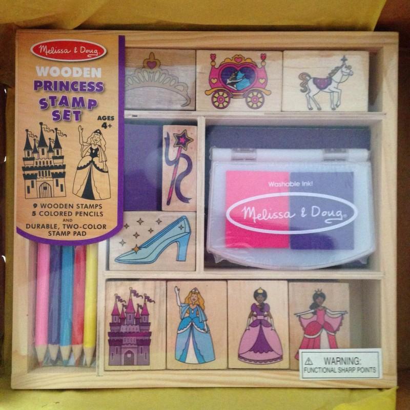 Citrus Lane December 2014 box Melissa and Doug Princess Stamps