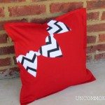 Chevron Valentines Pillow