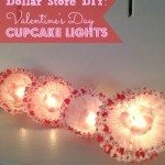 Dollar Store DIY Valentine's Day Cupcake Lights Handmade