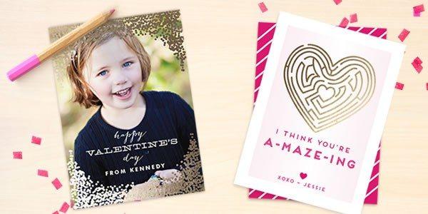 foil pressed valentine's day cards minted.com