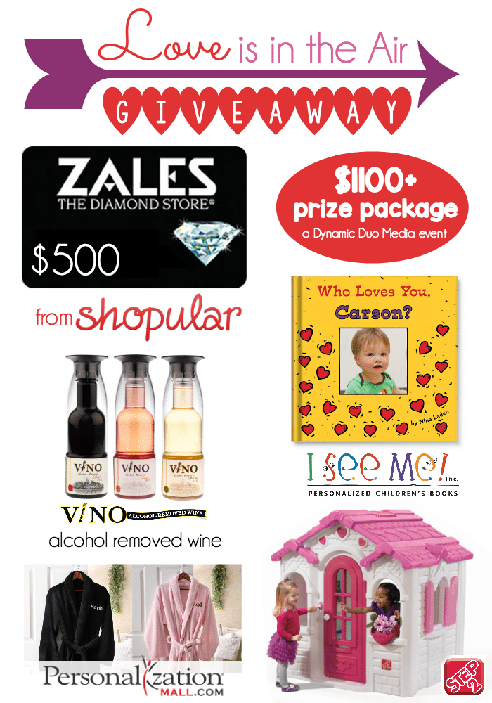 Love is in the Air giveaway Step2 $500 Zales gift card