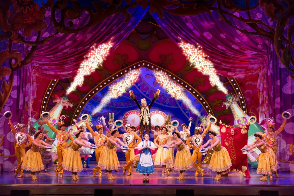 Jillian Butterfield and the cast of Disney's Beuauty and the Beast. Photo by Matthew Murphy