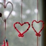 Kids Valentine Craft Heart Mobile