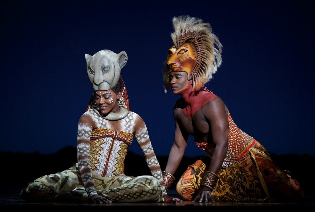 Nia Holloway as Nala and Jelani Remy as Simba in The Lion King National Tour ©Disney Photo Credit Joan Marcus