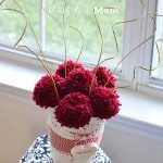 Get crafty with the kids with these DIY Valentines Day crafts. 14 loving DIY craft projects that you can do with the kids this valentines day. Pom-Pom Valentine Centerpiece