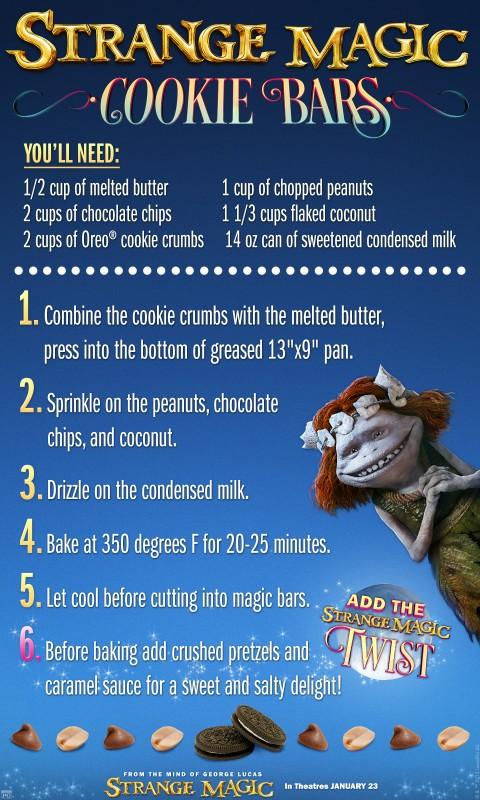 Strange Magic Cookie Bars