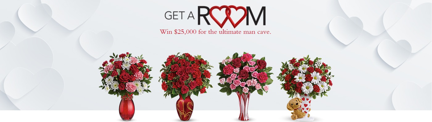 flowers valentine's day $25,000 sweepstakes