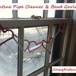 Valentine Heart Garland with Pipe Cleaners and Beads