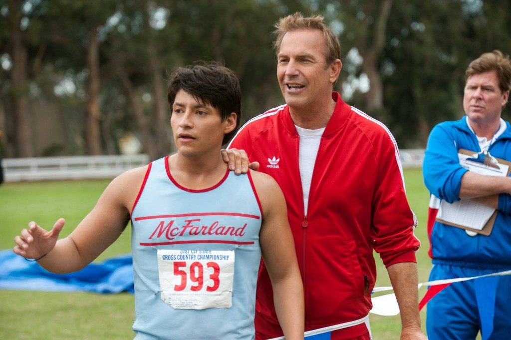 Kevin Costner and Carlos Pratts in McFarland, USA Photo Courtesy of Disney
