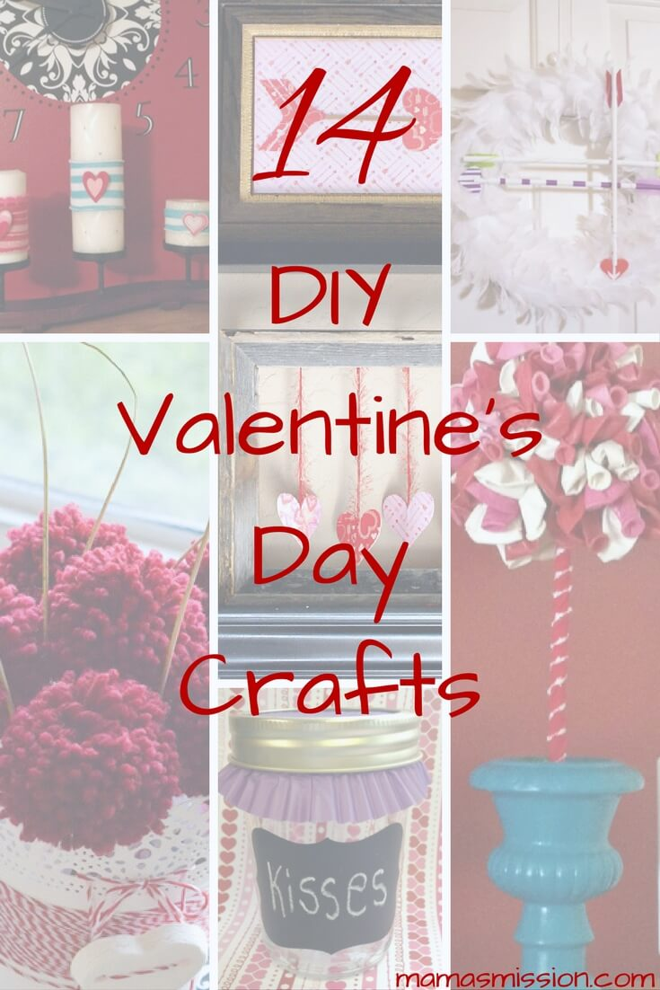 Get crafty with the kids with these DIY Valentines Day crafts. 14 loving DIY craft projects that you can do with the kids this valentines day.