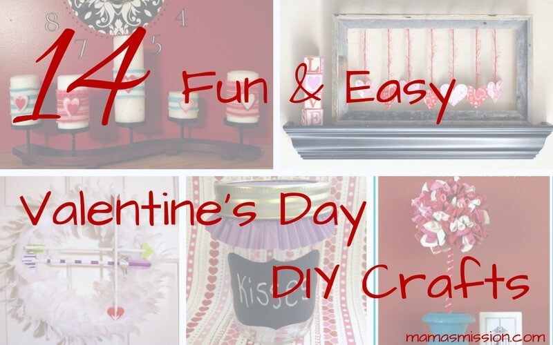 Get crafty with the kids with these DIY Valentines Day crafts. 14 fun and easy DIY craft projects that you can do with the kids this Valentines Day.