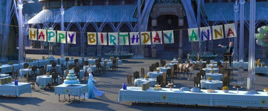 Frozen Fever Happy Birthday Anna Banner
