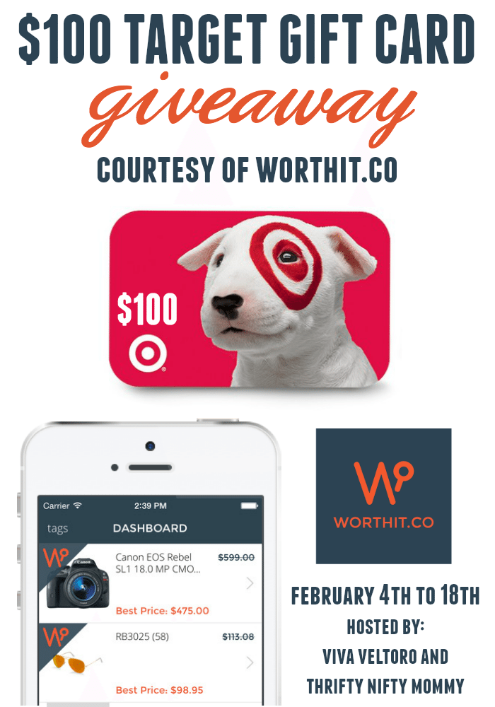 WorthIt.Co Giveaway $100 Target Gift Card