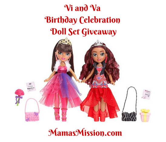 Vi and Va Birthday Celebration Doll Set