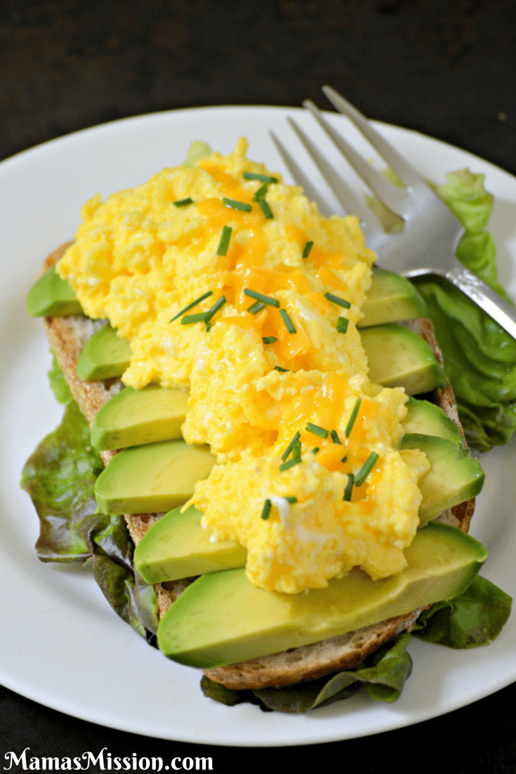 Weekend Breakfast Cheesy Egg Avocado Sandwich Recipe