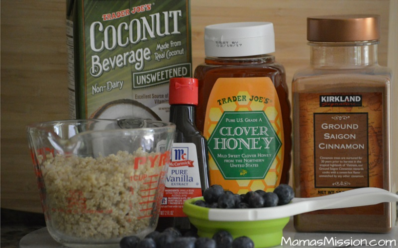 Blueberry Quinoa Breakfast Bowl Ingredients