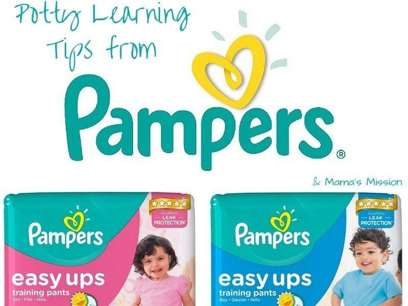 Potty Learning Tips from Pampers Easy Ups Mamas Mission