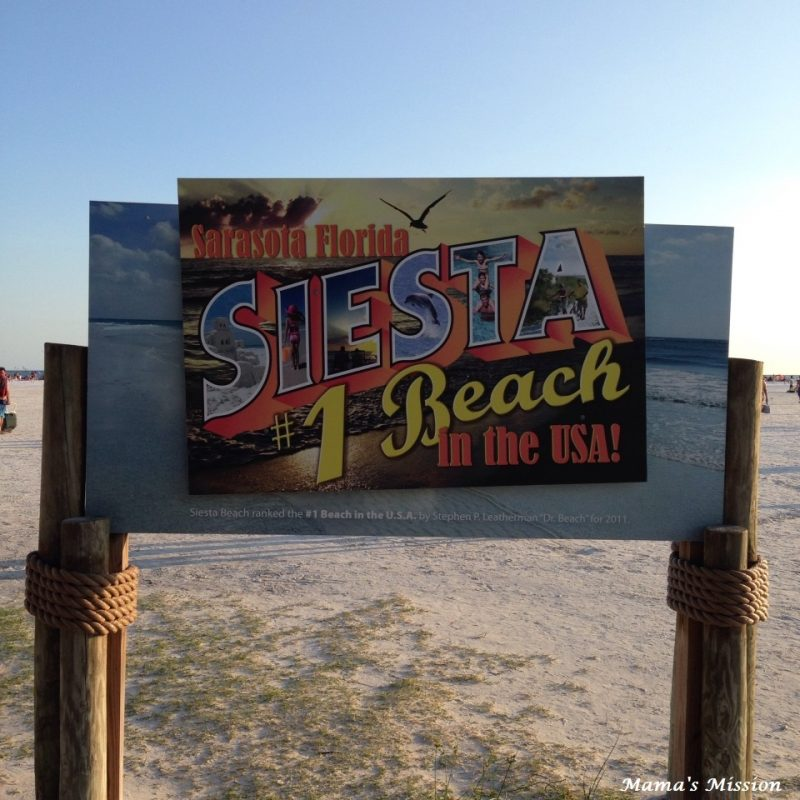 Siesta Key Beach Welcome Sign Sarasota Florida