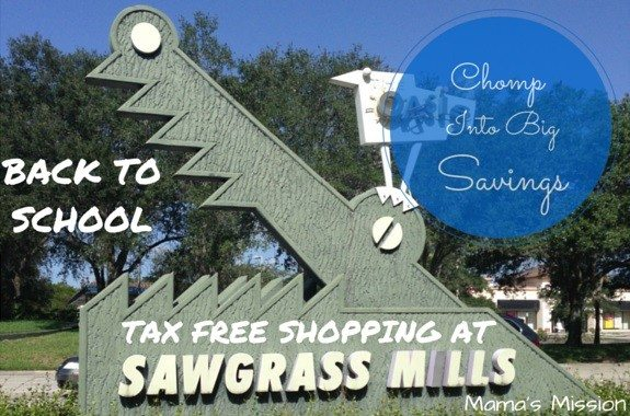 1d7b0288e Sawgrass Mills Mall Tax Free Shopping For Back To School