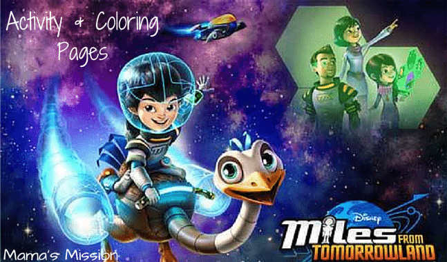 Miles From Tomorrowland Activity And Coloring Pages 1
