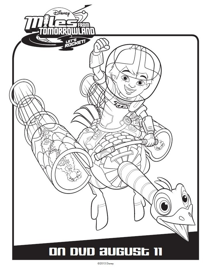 Miles From Tomorrowland Activity & Coloring Pages