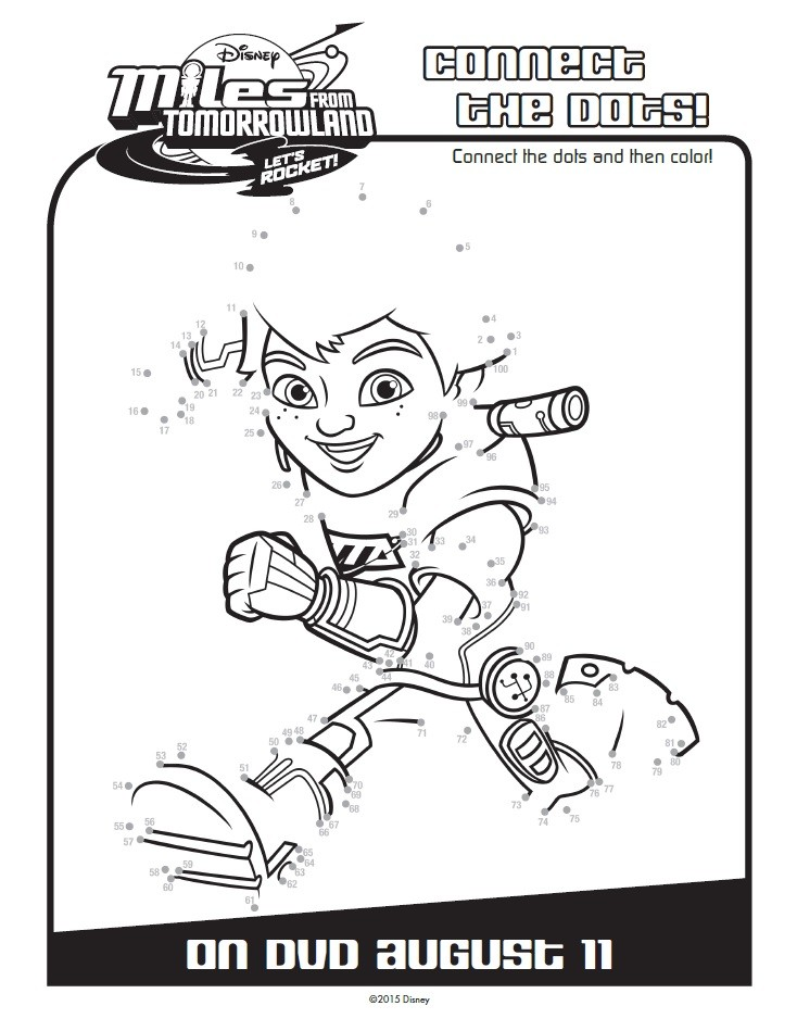 Miles From Tomorrowland activity and coloring pages will keep your child entertained any day. Join Disney Junior's Miles through Tomorrowland adventures! Connect the Dots