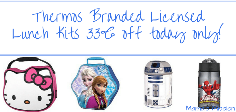 Thermos Branded Licensed Character Lunch Kits Frozen Disney Hello Kitty Star Wars Spider-man
