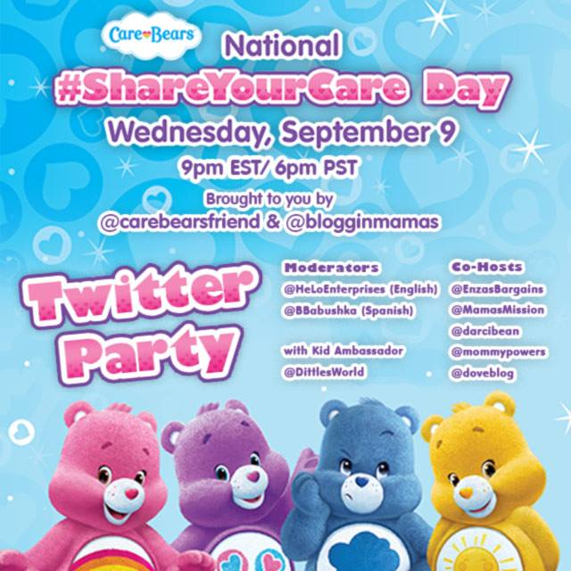 Care Bears National Share Your Care Day #ShareYourCare Twitter Party