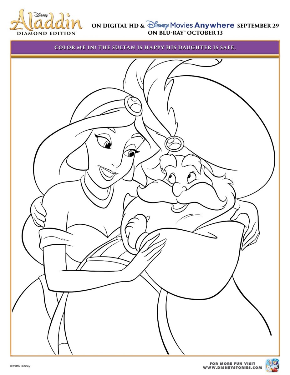 Aladdin Coloring Page Activity Sheet 5