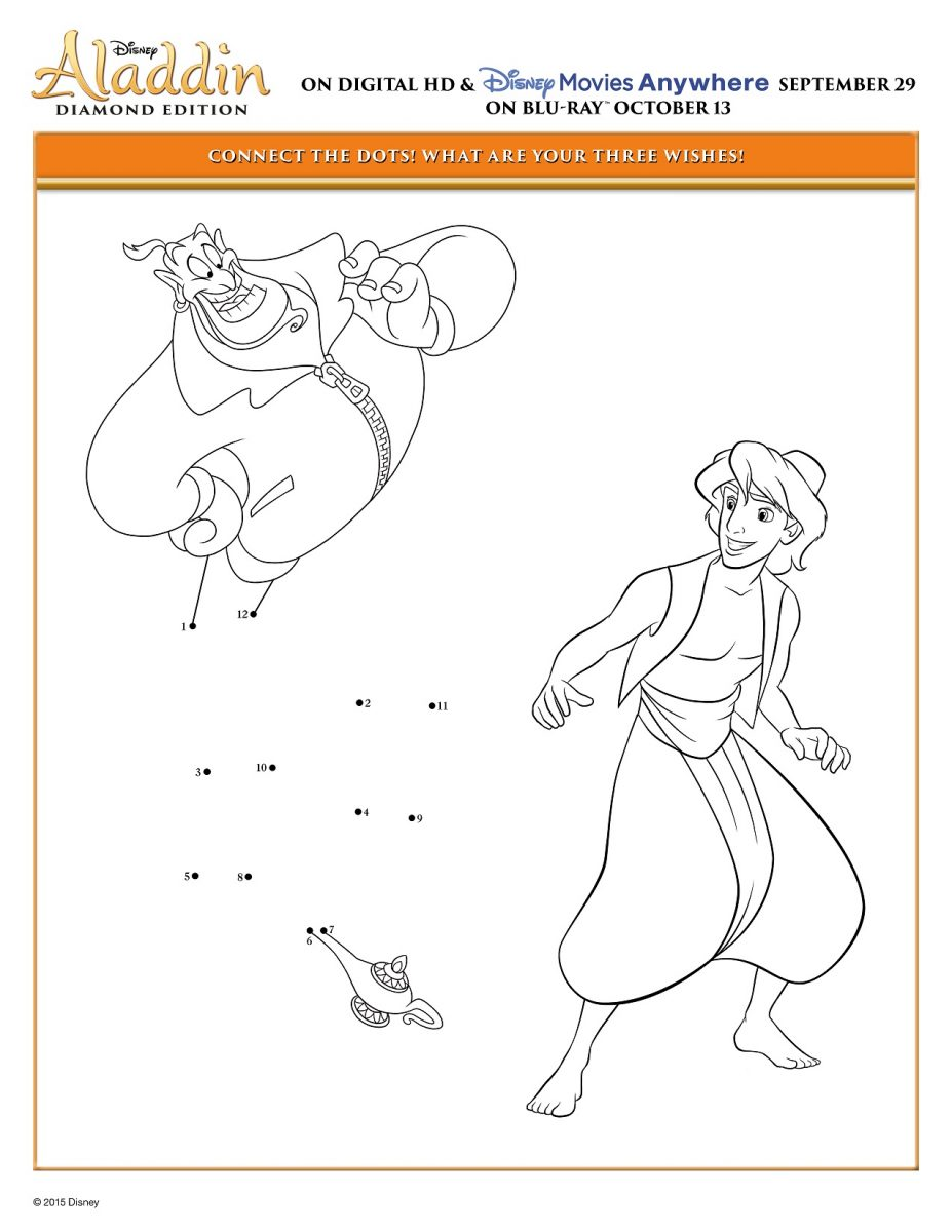Aladdin Connect the Dots Activity Sheet