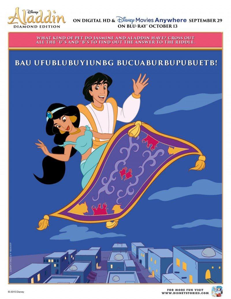 Free Printable Aladdin Activity Sheets Disney Aladdin Word Puzzle Activity Sheet