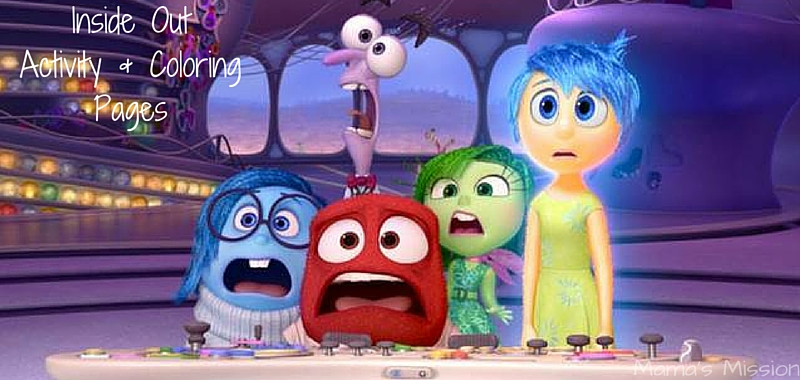 Check out these fun Inside Out activity and coloring pages. Join Joy, Sadness, Disgust, Fear and Anger on a fun Inside Out activity and coloring adventure!